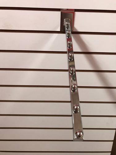 gancho blister  cascada cromada  para panel ranurado