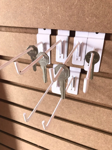 gancho blister delgado panel ranurado exhibipanel ligero 1/8