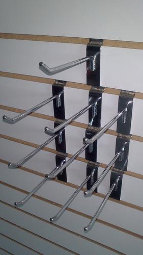 gancho blister exhibipanel cromado para panel ranurado 10 cm