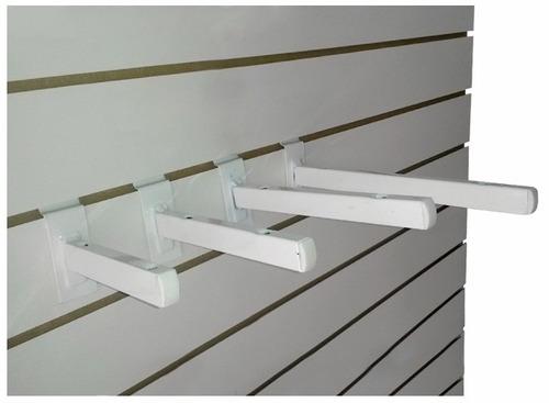 gancho blistero para panel ranurado 30 cm mensulas percheros