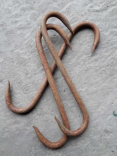 gancho carnicero de hierro 6x8 20 cm