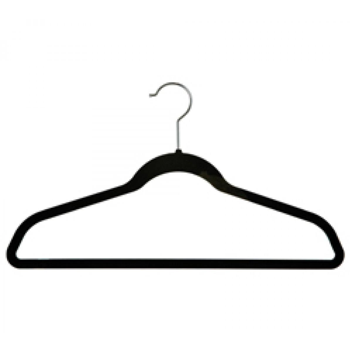 Gancho con terciopelo para ropa 50 piezas en for Ganchos de plastico para cortinas