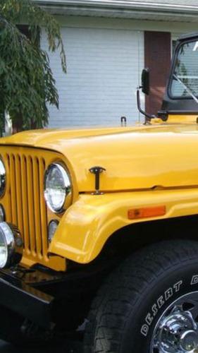 gancho de cofre jeep cj5, cj7, yj, willys universales par