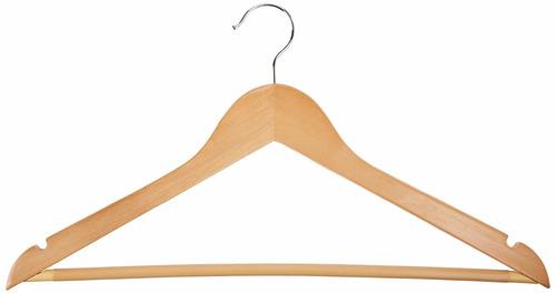 gancho de madera para ropa  1 unidad