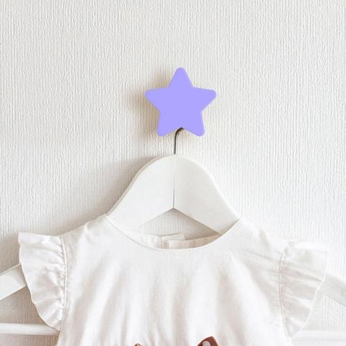 gancho de parede kit com 4 estrelas quarto de criança