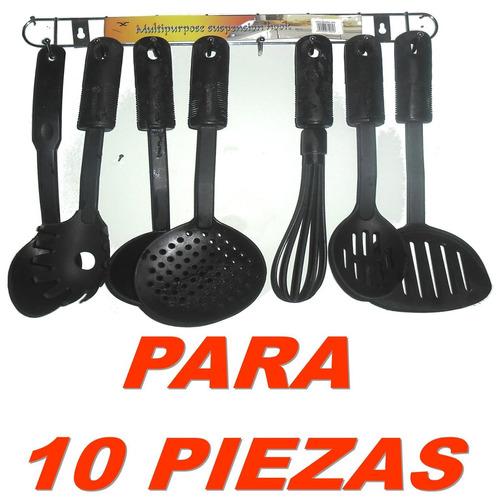 gancho de suspension de usos multiples para 10 piezas cocina