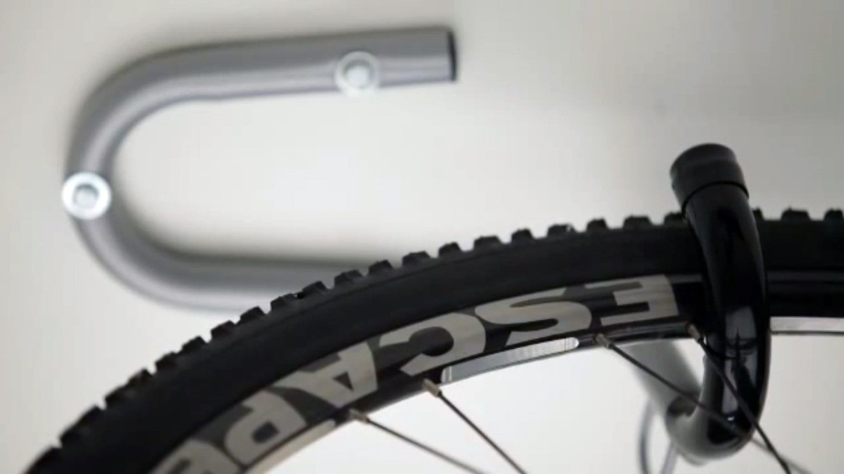 Gancho de teto para bicicleta bike prata eqmax - Gancho bicicleta pared ...