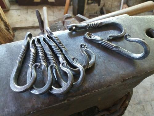 gancho en hierro forjado, cocina barbacoa