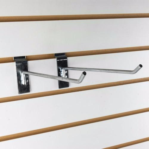 gancho metálico para panel ranurado 25 cm