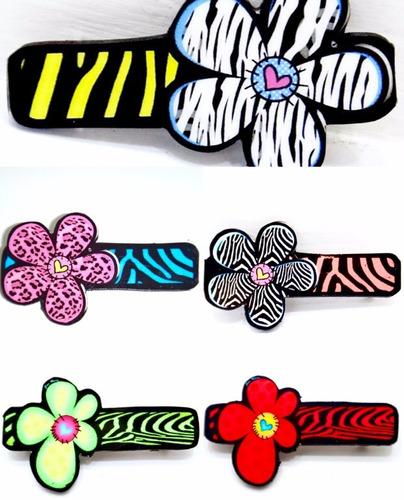 gancho moda flor mariposa libélula artesanales coquito look