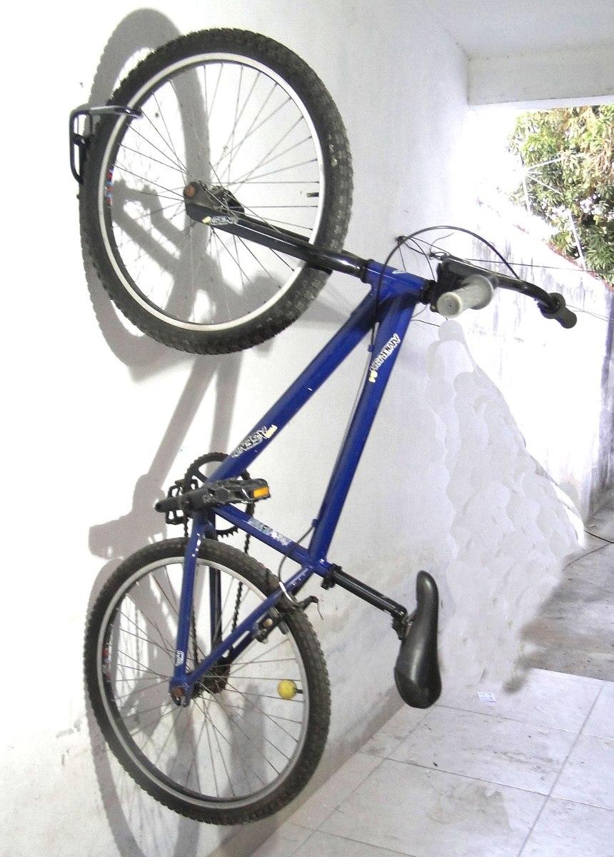 16458335b Gancho ou suporte p pendurar bicicleta ou bike parede cad Gancho bicicleta  pared