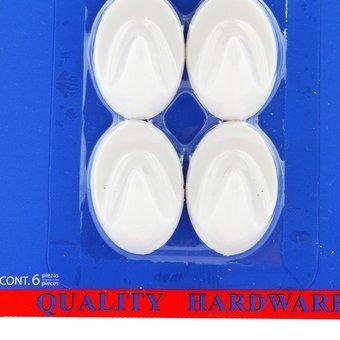 gancho ovalado best value set x 6 piezas f01450-blanco