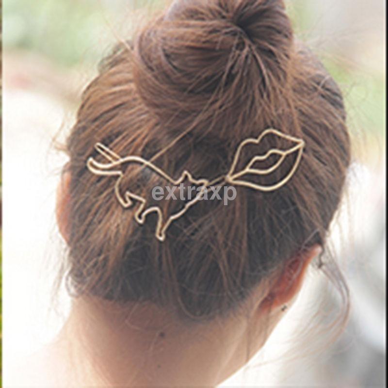 gancho para cabello gato gata cat dorado prendedor clip. Cargando zoom. f22153aac832