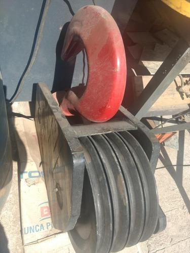 gancho para grua 50 ton / 4 poleas