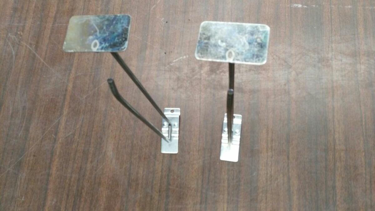 Gancho corcetero metalico exhibidor para malla y ropa for Gancho adhesivo pared