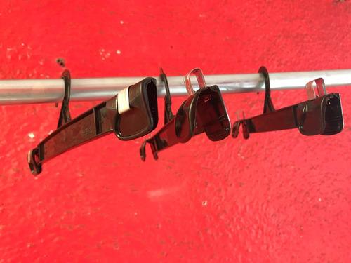 gancho para ropa modelo clip 30cm caja 50 pzas transparente