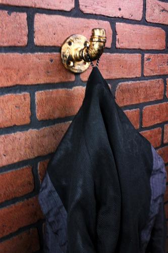 gancho perchero pared ropa toalla acero industrial vintage