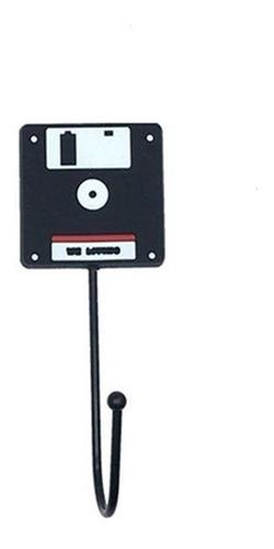gancho perchero porta llaves vintage - cassette - disquete