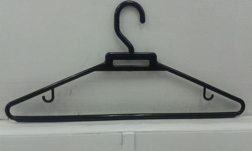 gancho plástico nijos para ropa, bolsa x 200 unidades negro