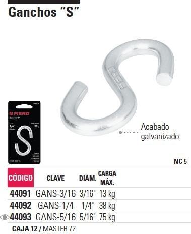 gancho s 3/16' fiero 44091