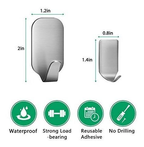 ganchos adhesivos de pared de acero inoxidable muy resistent