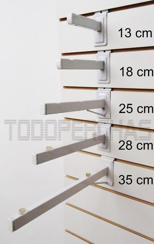 ganchos blisteros para panel ranurado de 10 cm