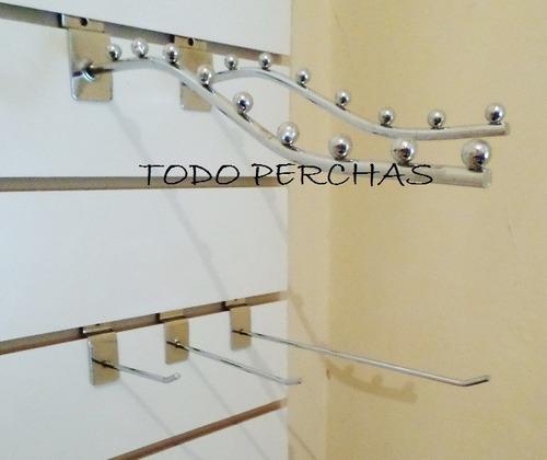 ganchos blisteros para panel ranurado de 15 cm