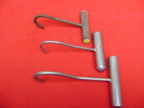 ganchos de mano carnicero 3 unidades