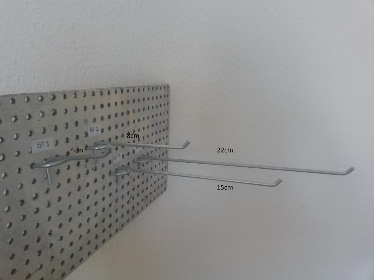 Ganchos exhibidores para panel perforado durabor 8 for Ganchos para pared