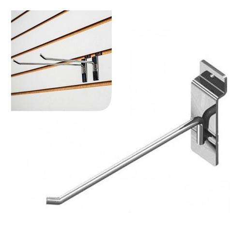 ganchos gancheras metalicos panel ranurado 30 cm