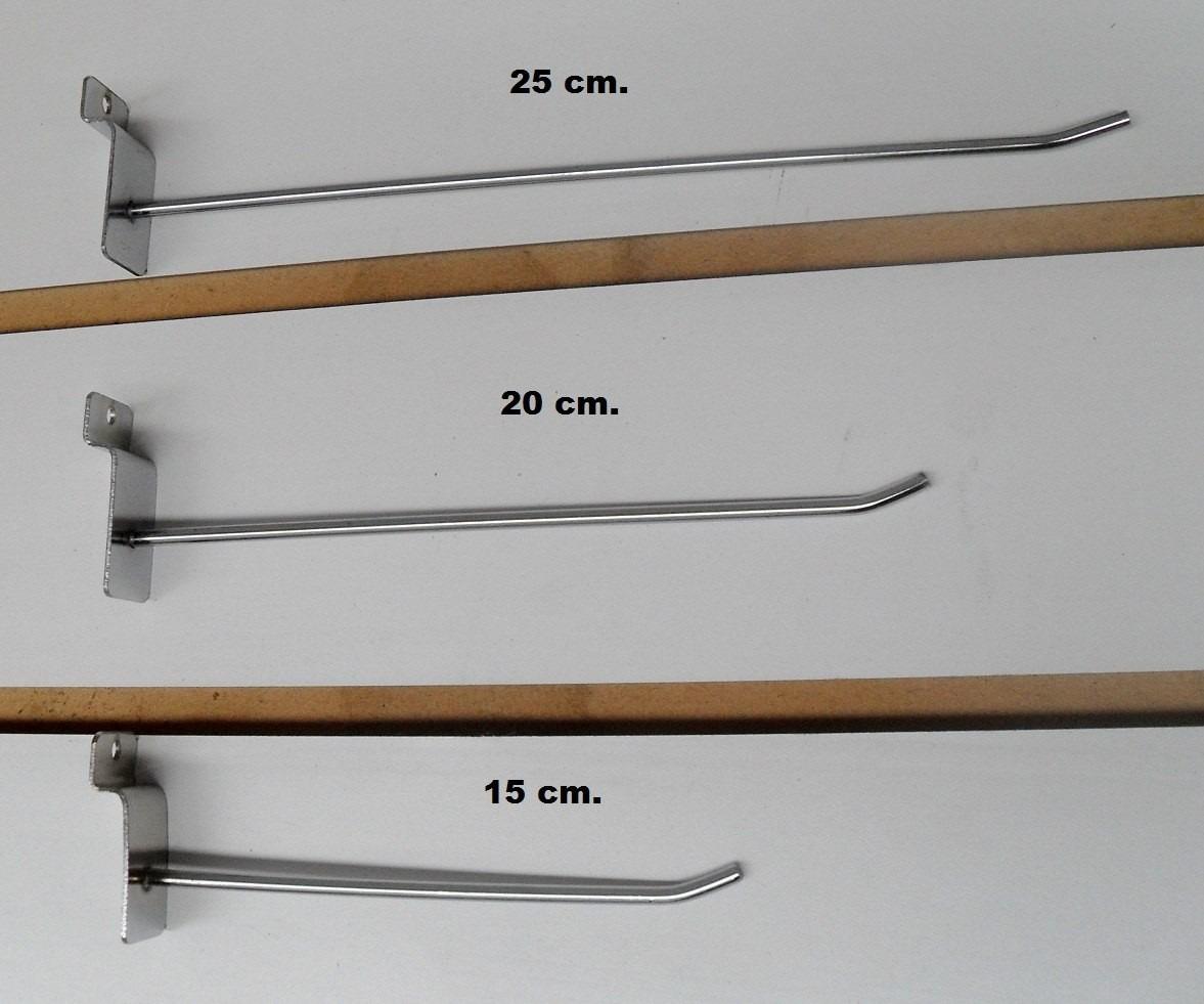Ganchos para panel ranurado 20cm x 10 unidades 229 00 for Ganchos para repisas