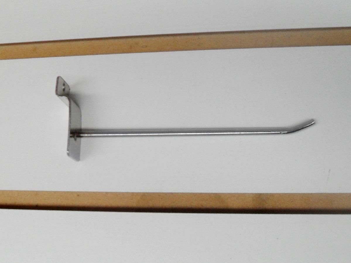 Ganchos para panel ranurado 20cm x 10 unidades 229 00 for Ganchos para pared