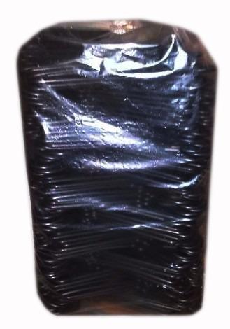 ganchos plástico para ropa x bolsa 200 unidades color negro.