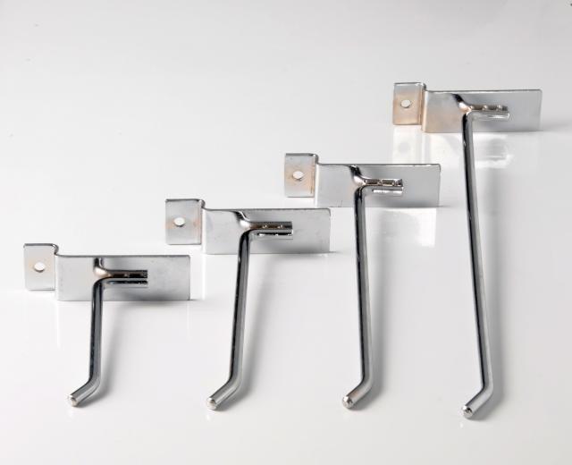 Ganchos reforzados para panel ranurado 10 cms 17 00 en for Ganchos para percheros precio