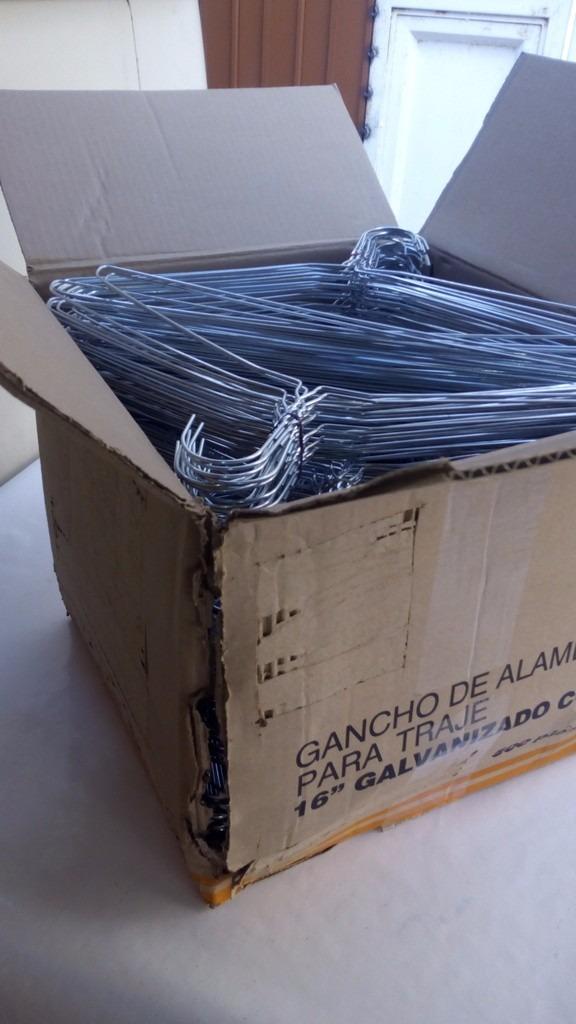 Ganchos ropa tintoreria galvanizados para saco 500 piezas for Ganchos de aluminio para ropa