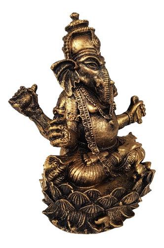 ganesha hindu deus da sorte, prosperidade e sabedoria resina