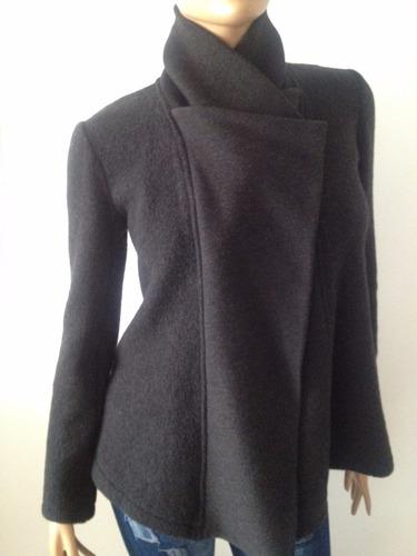 ganga, abrigo dama importado en lana cashimire, talla s,