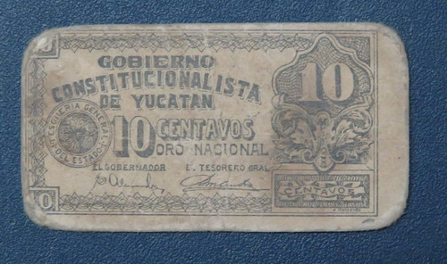 ganga bilimbique revolucionario de yucatan 10 ctvs