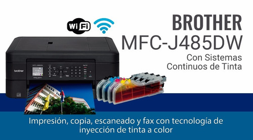 ganga impresora brother mfc-j485dw + sistema
