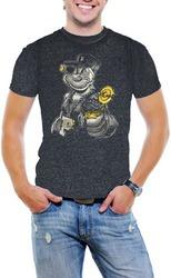gángster popeye hombres ácido lavado t - camisa suave algo