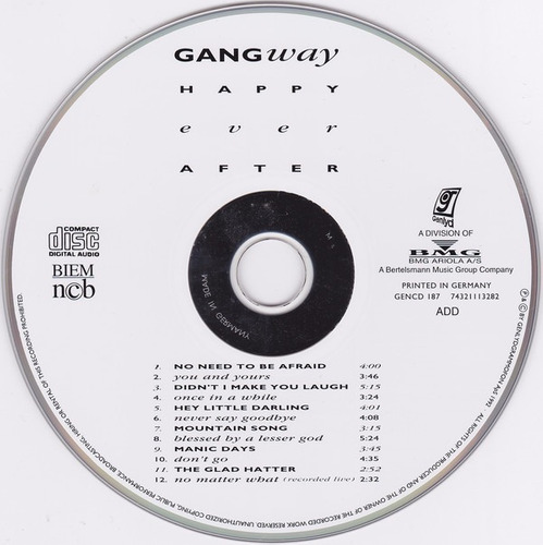 gangway happy ever after cd importado impecable pop