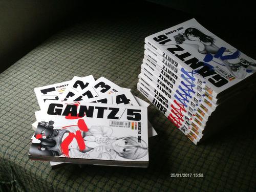 gantz n. 1 ao 16 - hiroya oku - panini - leia o anuncio!