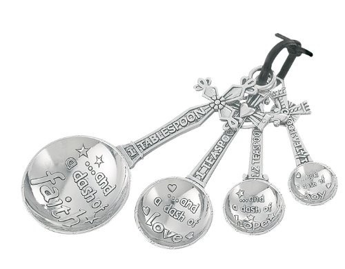 ganz 4 piezas conjunto de cucharas de medición, de la cruz