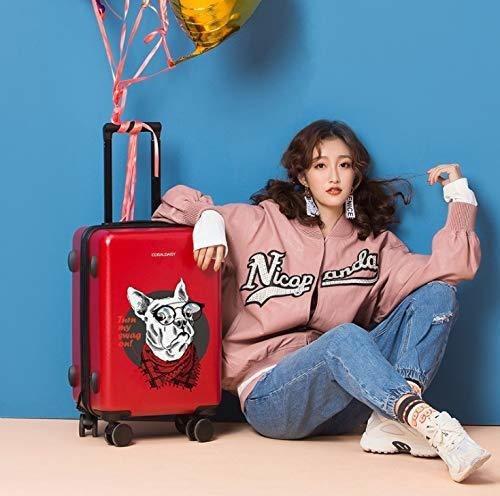 Size : S GaoMiTA Universal Wheel Trolley case Luggage Small Fresh Suitcase