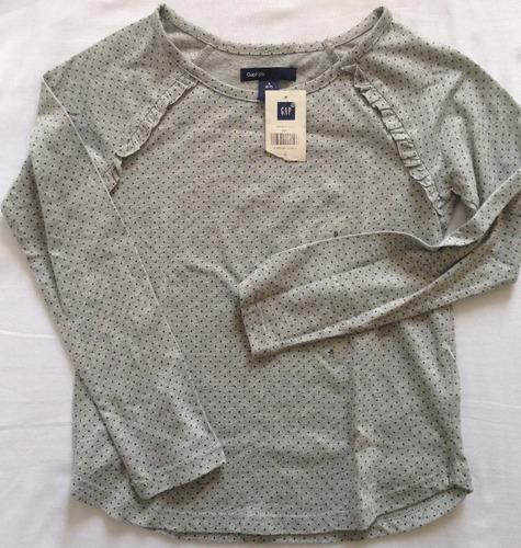 gap blusa manga larga 100% orig talla s 6-7 años