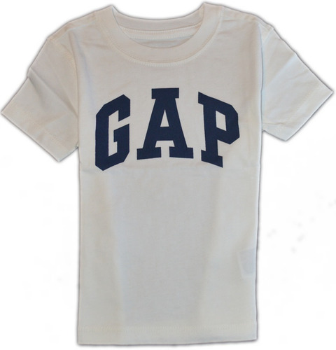gap by bambino - remera  blanca - logo negro