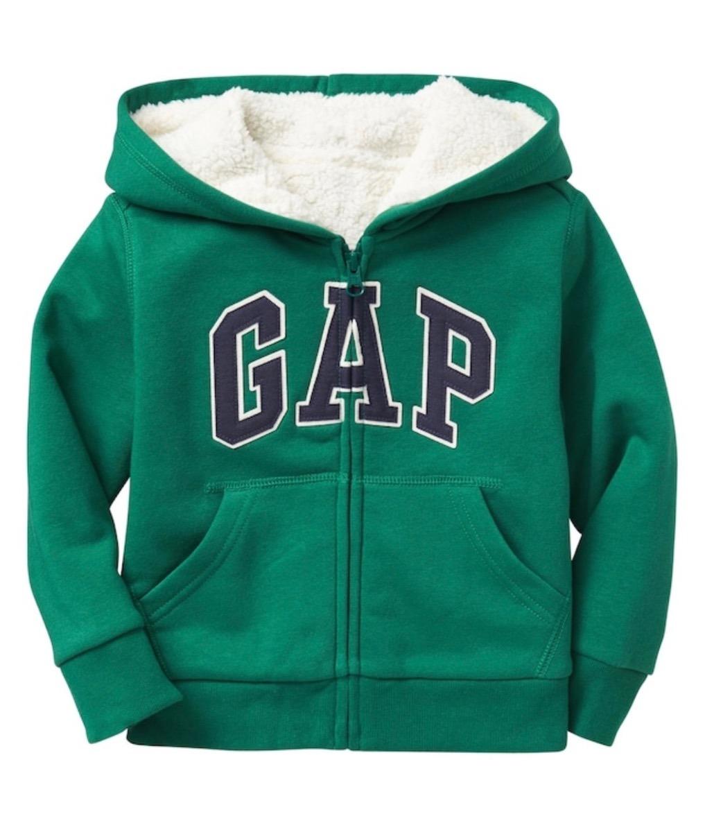 Verde Con 4 Niños Nueva Talle 5 Abrigo Campera Corderito Gap B6qw11