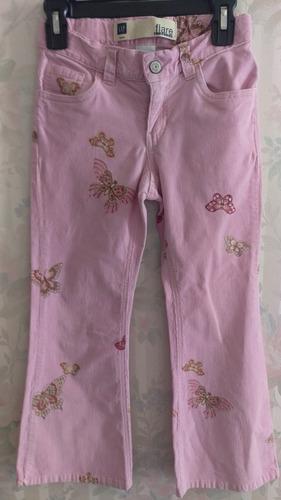gap pantalon para niña en pana strech con hermoso estampado