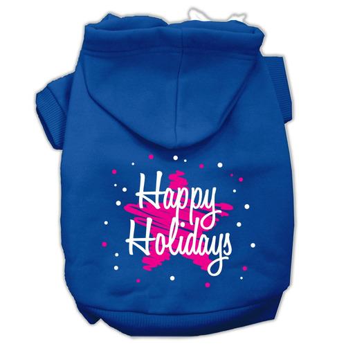 garabato feliz vacaciones serigrafía mascotas azul tamaño