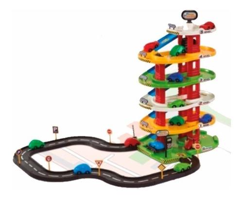 garage 5 niveles con pistas y 2 autos de regalo rondi nueva!